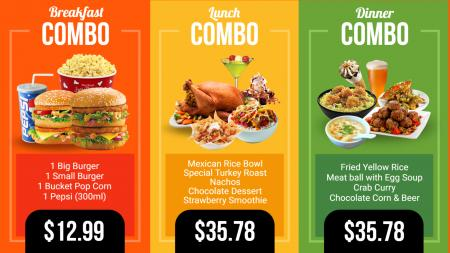 Restaurant menu templates   Digital Signage Template