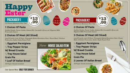 Restaurant menu templates | Digital Signage Template