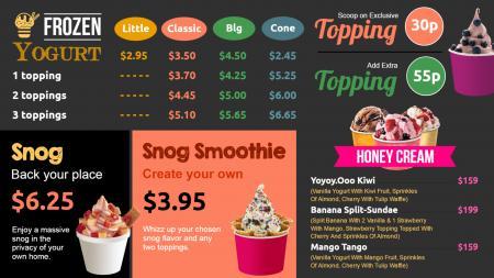 yogurt menu | Digital Signage Template