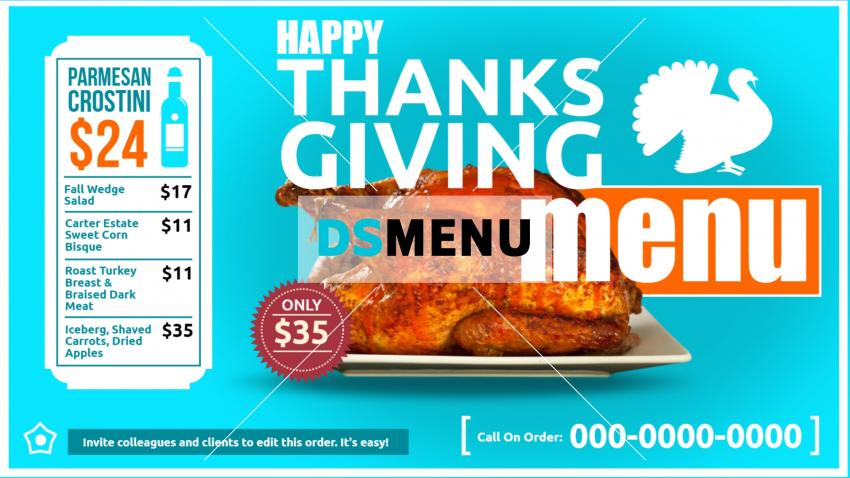 Restaurant offer menu for digital signage in cheap rate