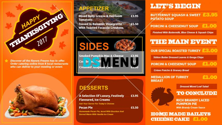 Orange restaurant offer menu template for restaurnats