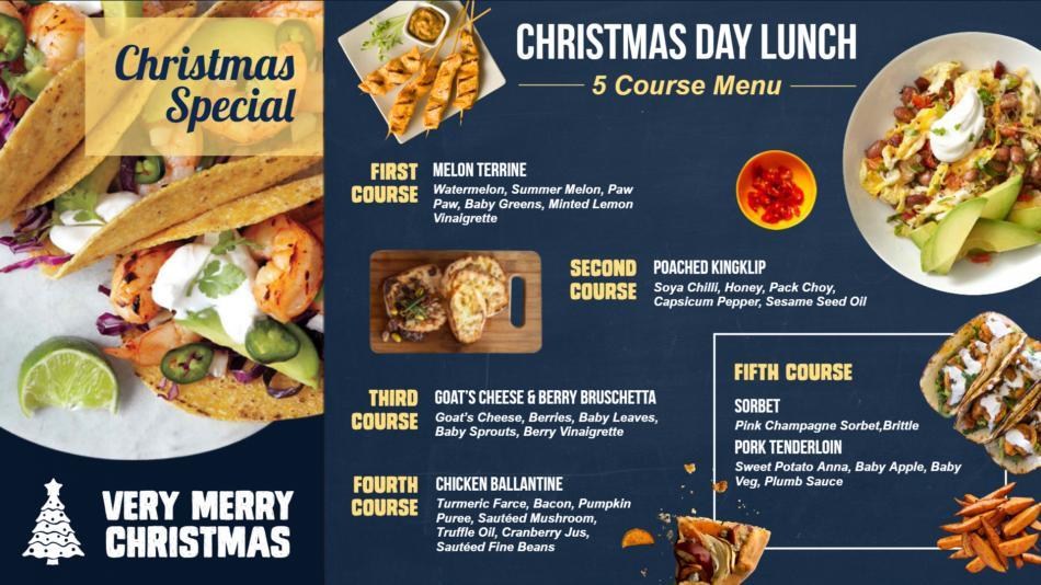 Christmas special restaurant menu for free