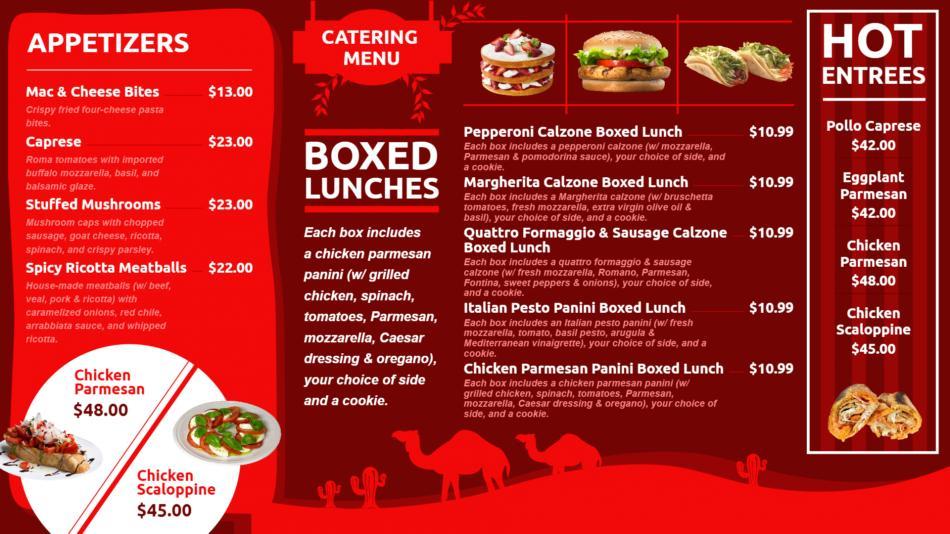 Minimal digital signage restaurant menu board template