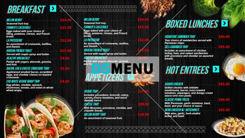 How to make restaurant menu template at home easily