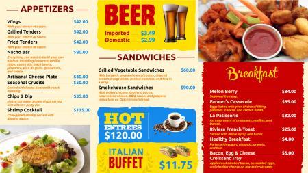 Beverage menu board | Digital Signage Template