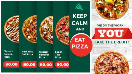 pizza menu board | Digital Signage Template