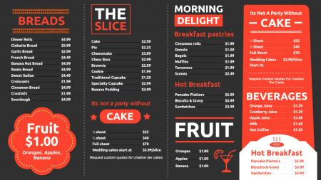 cafe menuboard | Digital Signage Template