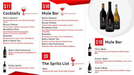 wine menu template | Digital Signage Template