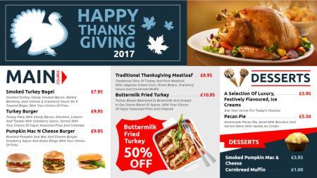 restaurant festive menu   Digital Signage Template