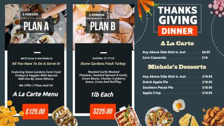restaurant offer menuboard | Digital Signage Template