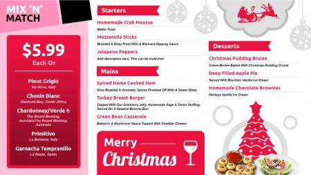 Christmas Takeaway menu | Digital Signage Template