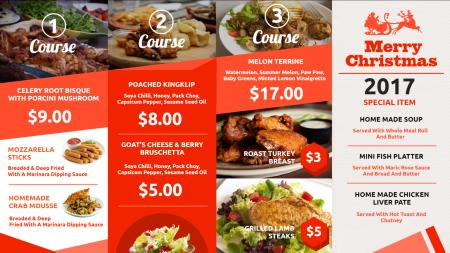 Restaurant menu design | Digital Signage Template