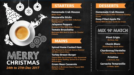 Christmas Restaurant Menu Board Design | Digital Signage Template