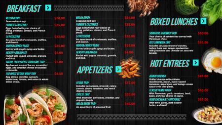 restaurant-menu-template | Digital Signage Template