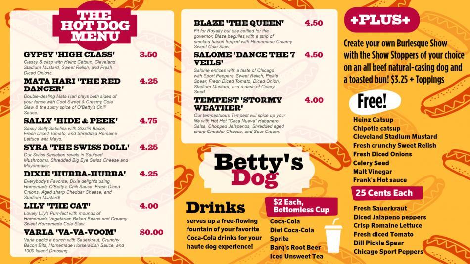 Stylish hot dog repeat background menu design for degital signage