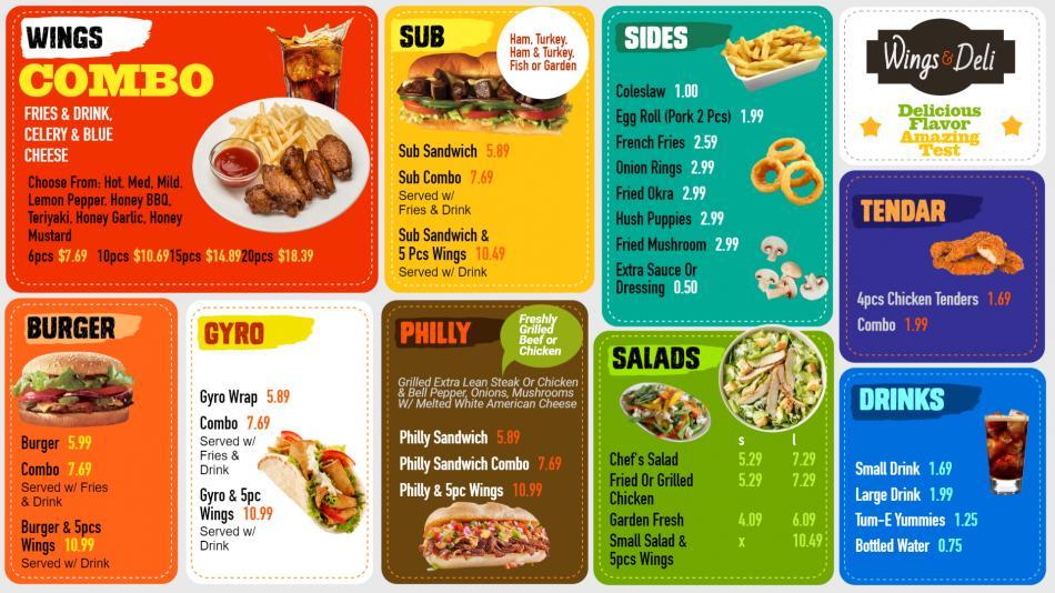 Best combo pack Deli menu board design template