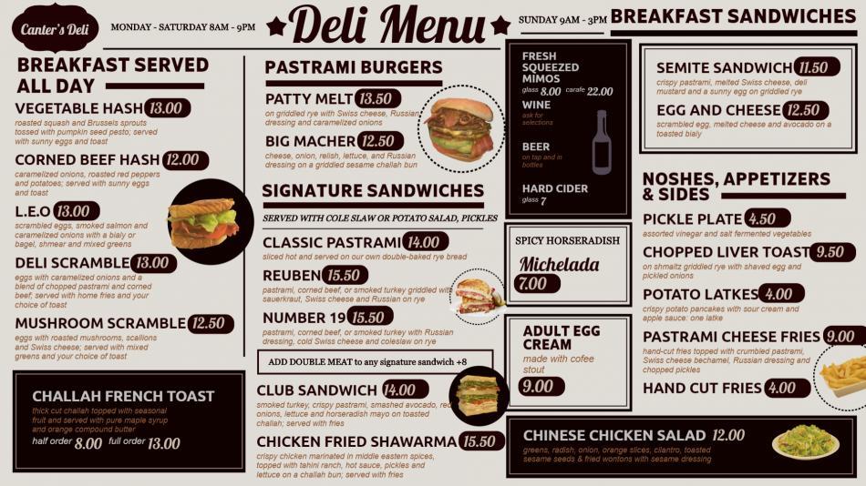 Old fashioned restaurant menu board for digital signage