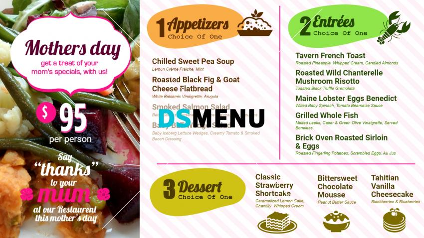 Mother's day Digital Signage menuboard