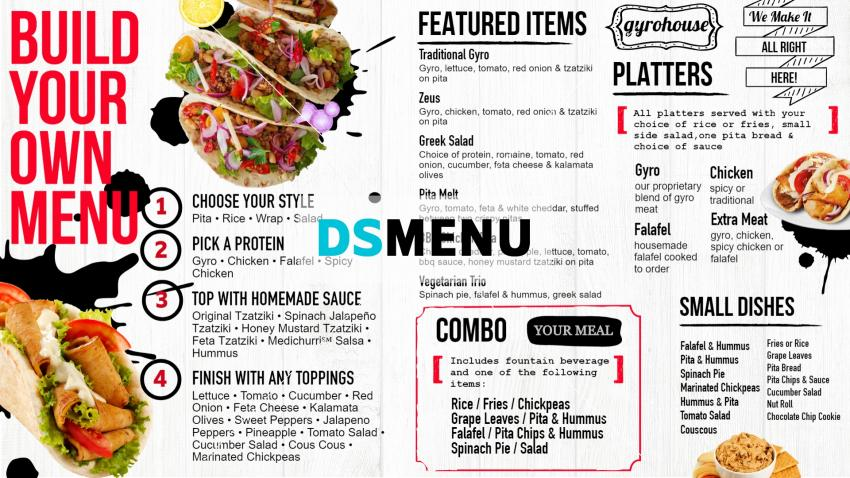 New Gyro digital signage menuboard from dsmenu