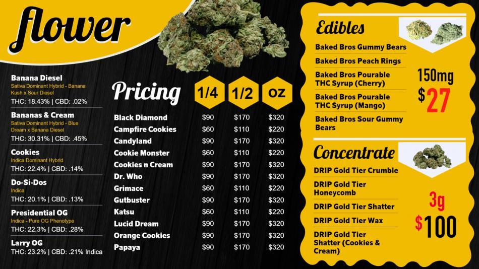 Download free marijuana black yellow menu for smart tv