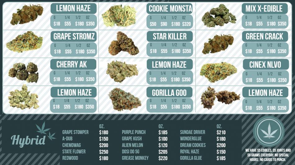 Nice Medical Marijuana Dispensary online menu for free