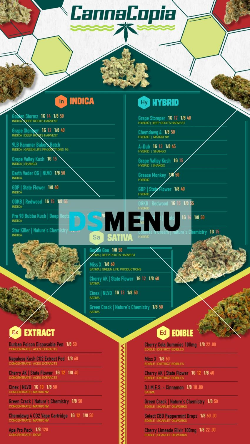 Download Cannabis Dispensary Vertical menu for smart tv