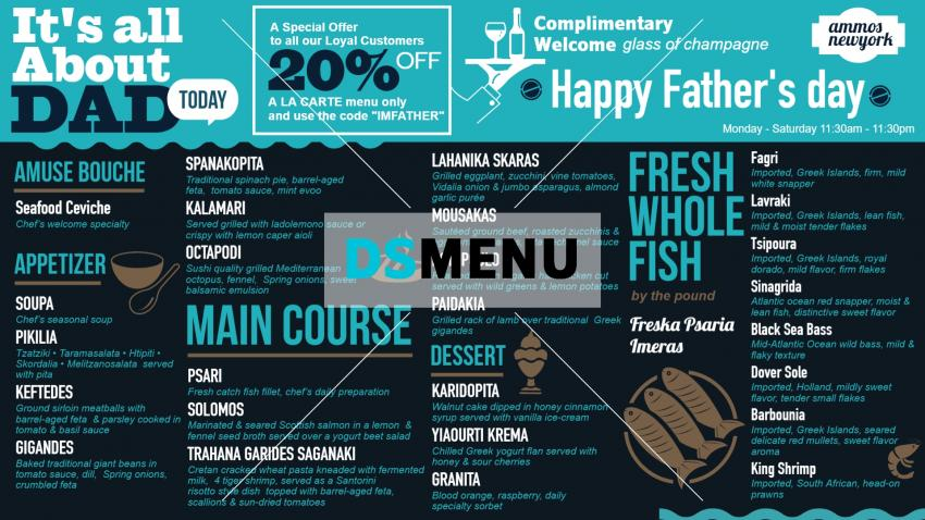 How to create Father's Day signage Menu Board easily at home