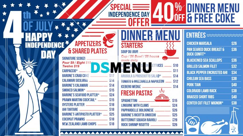 Download Independence Day Offer Restaurant Menu for free