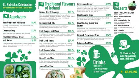 shamrock-patrick-day-01 | Digital Signage Template