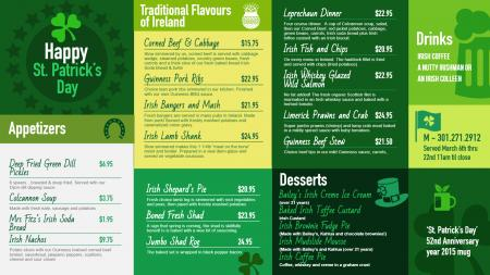 shamrock-patrick-day-02 | Digital Signage Template
