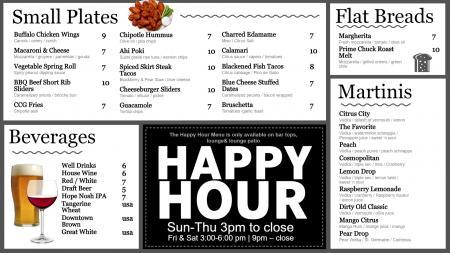 citruscitygrille-happy-hour-01 | Digital Signage Template