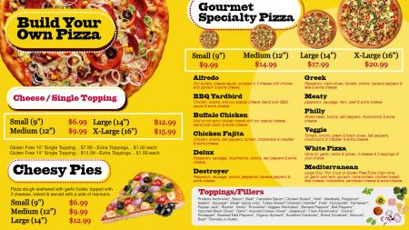 only-pizza-menu-01 | Digital Signage Template