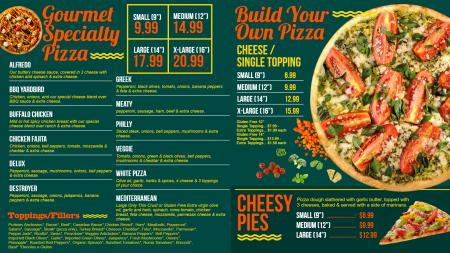 only-pizza-menu-02 | Digital Signage Template