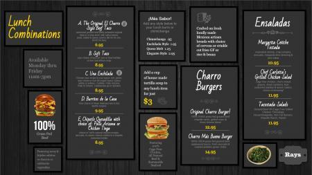 lunch-dsmenu-black-01   Digital Signage Template