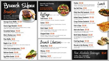 brunch-menu-digital-signage-menuboard-dsmenu-01 | Digital Signage Template