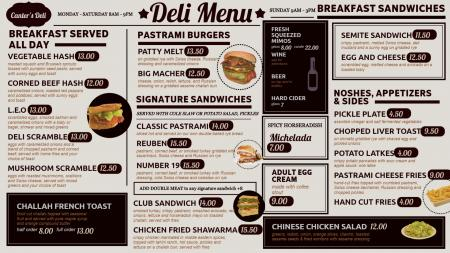 Deli-menu-design-dsmenu-01 | Digital Signage Template