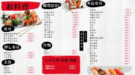 sushi-menuboad-dsmenu-jp-01 | Digital Signage Template