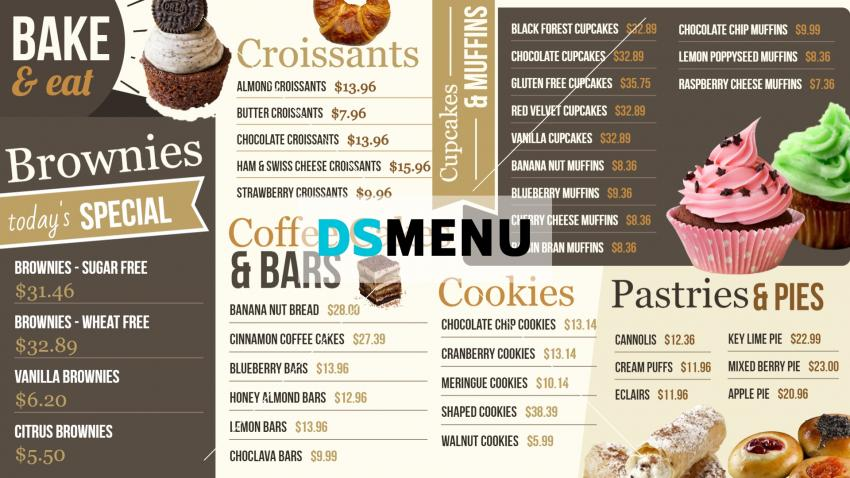 Download Bakery Signage Menu Board for free
