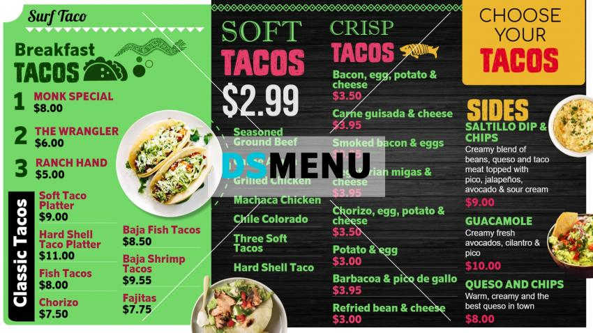 Download Free Mexican Menu Board for Restaurants