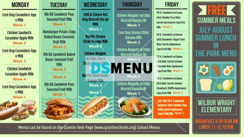 How to make nice online school menu for digital signage