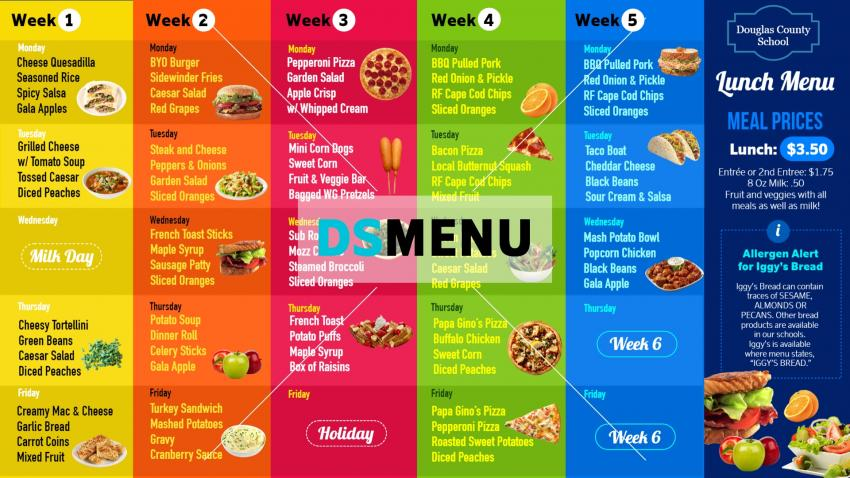 How to make modern digital signage menu for school canteen