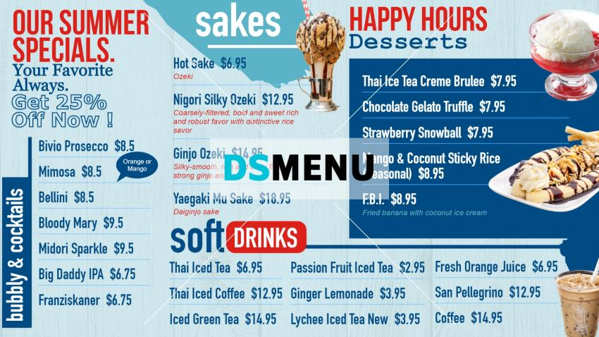 Download restaurant menu for digital signage