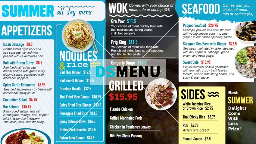 Download free restaurant menu for free for restaurant and restaurant marketing
