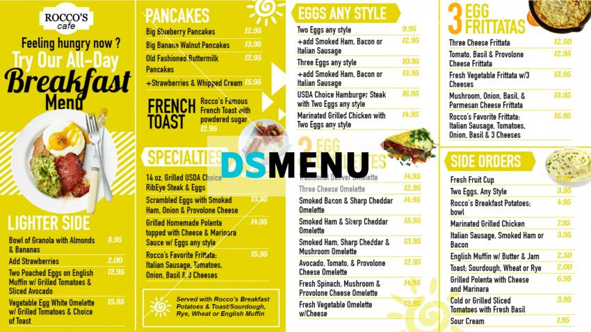 Download free breakfast menu template design for restaurant