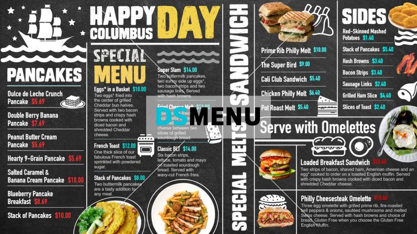 Black chalk board signage menu for digital signage for restaurants