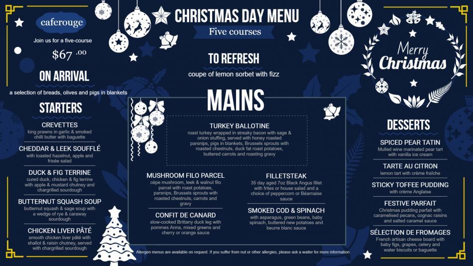 How to make Christmas food menu at DsMenu at home