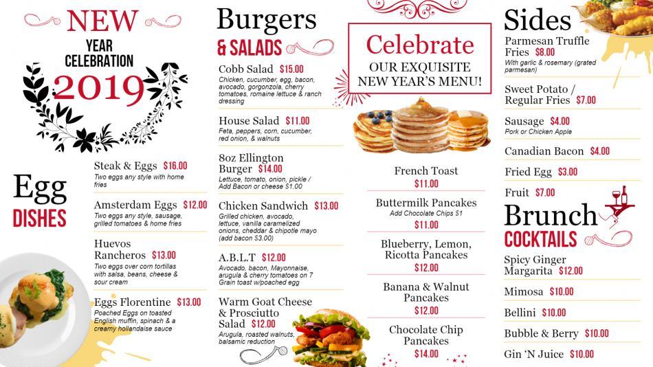 New Year Menu Design concept for Digital Signage