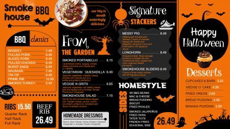 Dray yard smokehouse christmas menu templates
