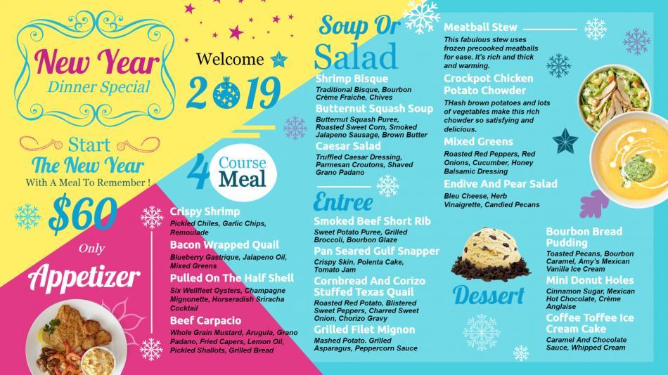 Wonderful New year signage menu board Dsmenu