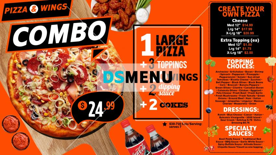 Download Combo Pizza menu Template